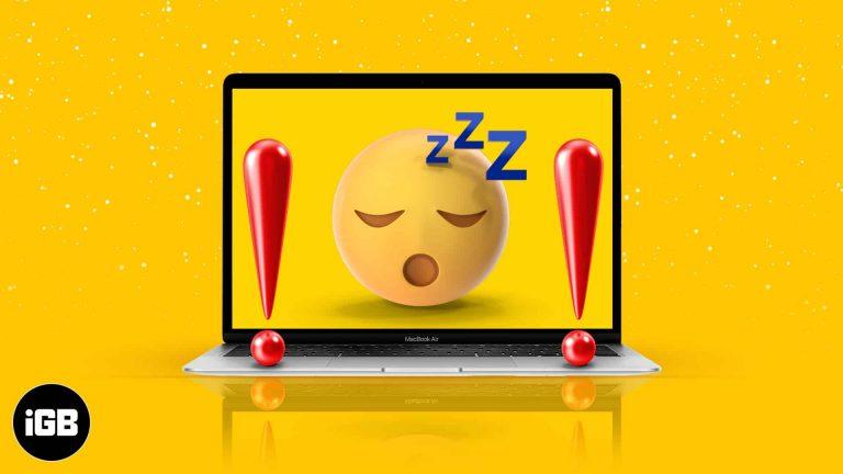 Mac не перейдет в спящий режим?  Как исправить (Проверенные решения)