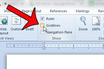 Как избавиться от линий сетки в Word 2010