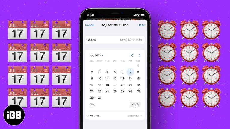 Как настроить дату и время фото или видео в iOS 15