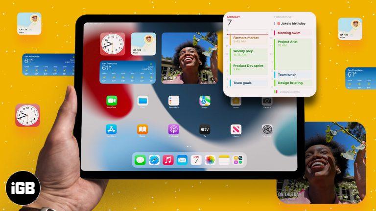 Как добавить и использовать виджеты на iPad под управлением iPadOS 15