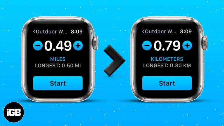 Как изменить единицы измерения расстояния с миль на километры на Apple Watch и iPhone