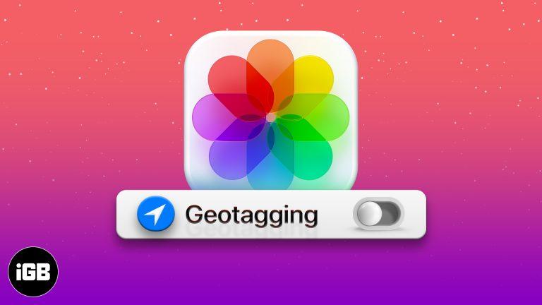 Как отключить геотегирование фотографий на iPhone и iPad