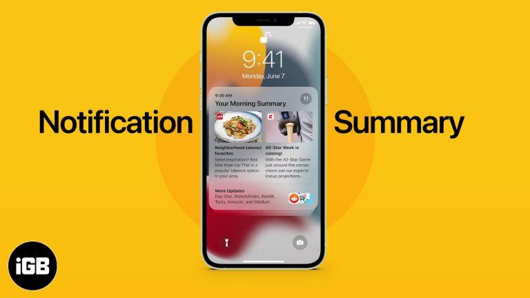 Как включить и использовать сводку уведомлений в iOS 15 на iPhone