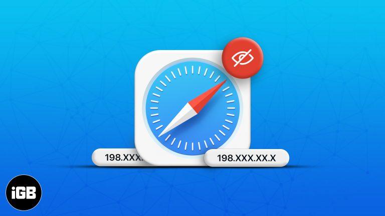 Как скрыть IP-адрес в Safari в iOS 15 и macOS Monterey