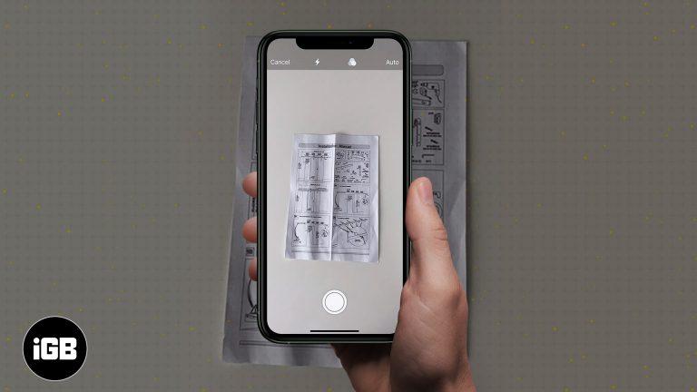 Как сканировать документы на iPhone с помощью приложения Notes
