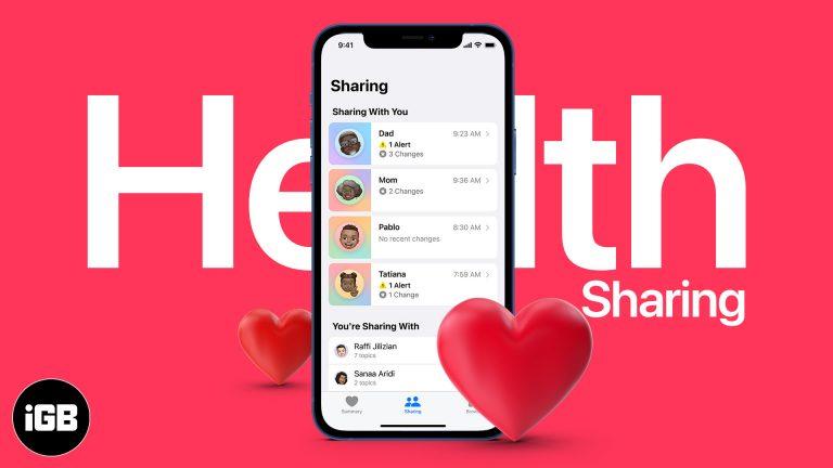 Как настроить разделение здоровья в iOS 15 на iPhone