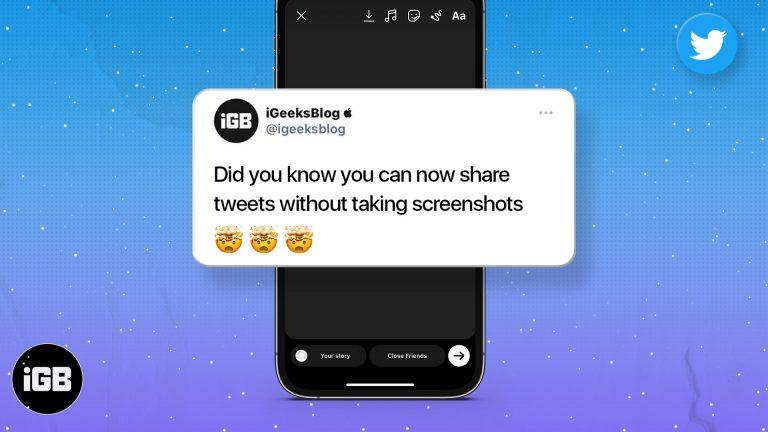 Как поделиться твитом в Instagram Story на iPhone и Android (2021 г.)