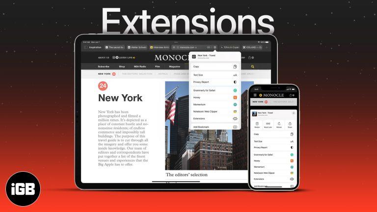 Как использовать расширения Safari в iOS 15 на iPhone и iPad