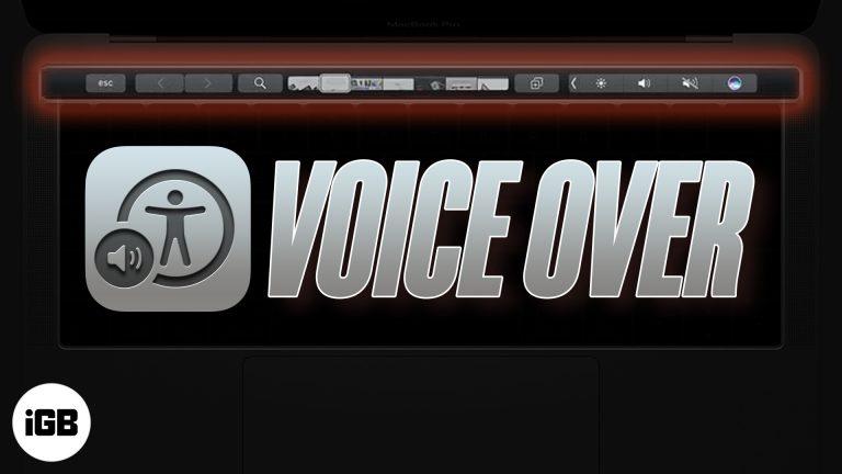 Как использовать VoiceOver с Touch Bar на MacBook Pro