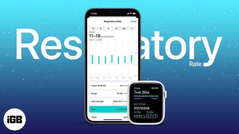 Как использовать частоту дыхания в watchOS 8 на Apple Watch