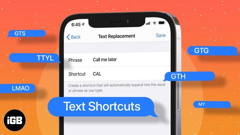 Как использовать текстовые ярлыки на iPhone и iPad