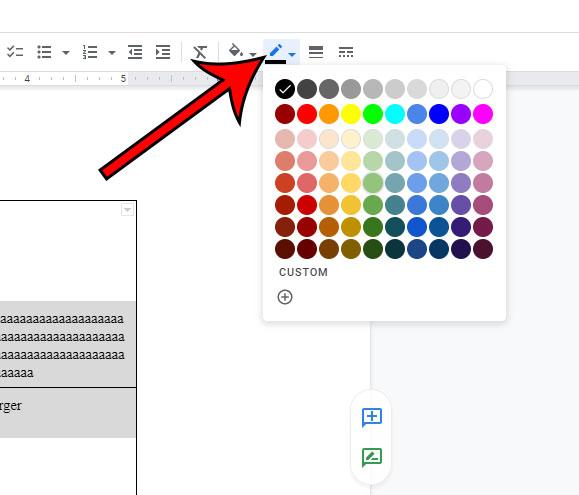 Как изменить цвет таблицы в Google Документах