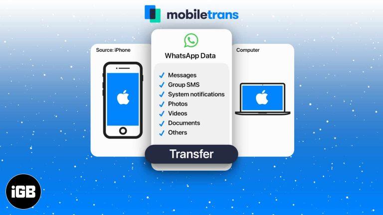 Как сделать резервную копию WhatsApp с iPhone на Mac с помощью MobileTrans