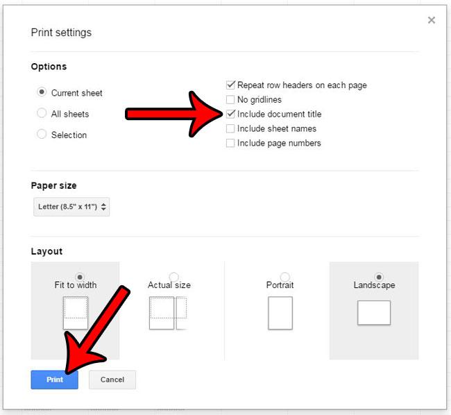 Как добавить заголовок в Google Таблицы