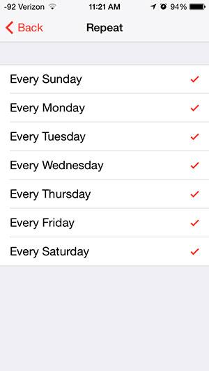 Как установить ежедневный будильник на iPhone
