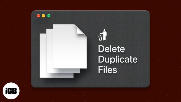 Как найти и удалить повторяющиеся файлы на Mac