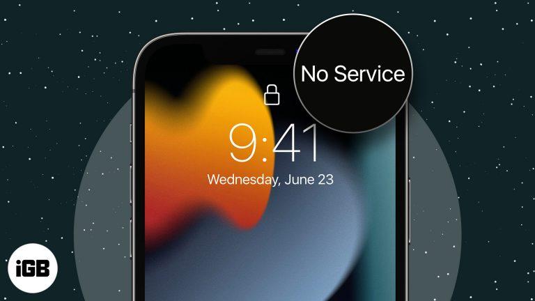 Нет службы на iPhone?  Попробуйте эти 10 исправлений!
