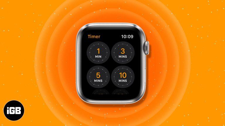 Как установить таймер на Apple Watch: краткое руководство