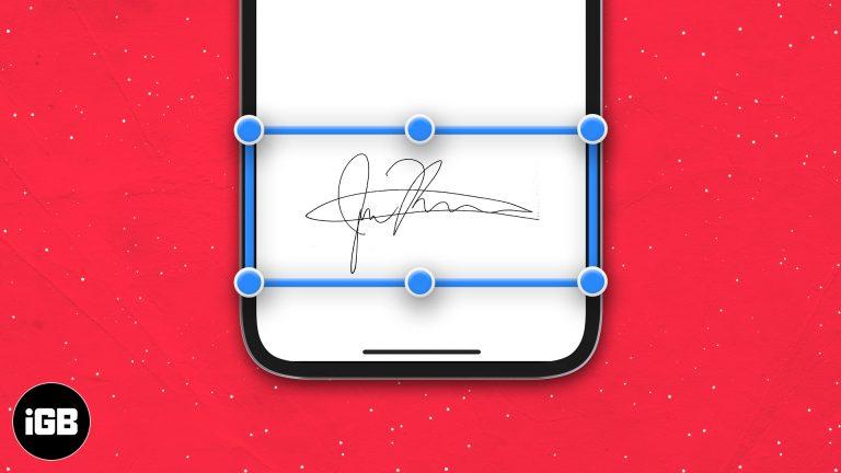 Как подписать документ на iPhone, iPad и Mac
