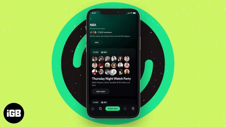 Что такое Spotify Greenroom и как им пользоваться на iPhone?