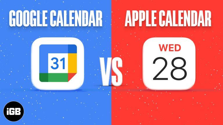 Календарь Apple и Календарь Google: какой из них использовать?