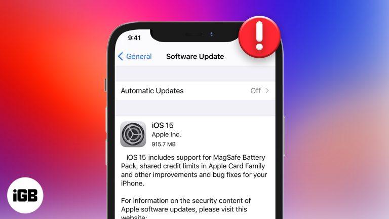 Не удается установить бета-обновление iOS 15?  Вот как это исправить