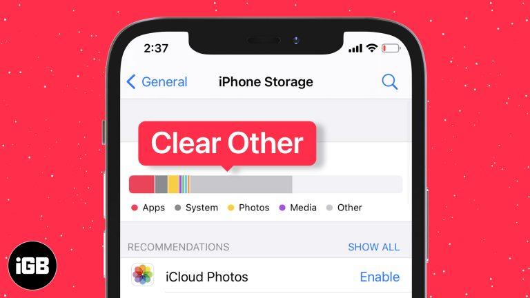 Как очистить другое хранилище на iPhone