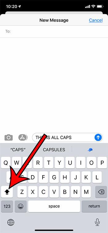 Как использовать Caps Lock на iPhone 11