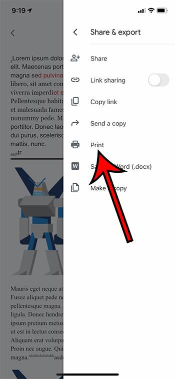 Как печатать из Google Docs на iPhone или Android