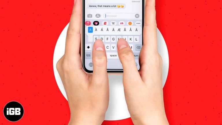Как набирать диакритические знаки на iPhone и iPad