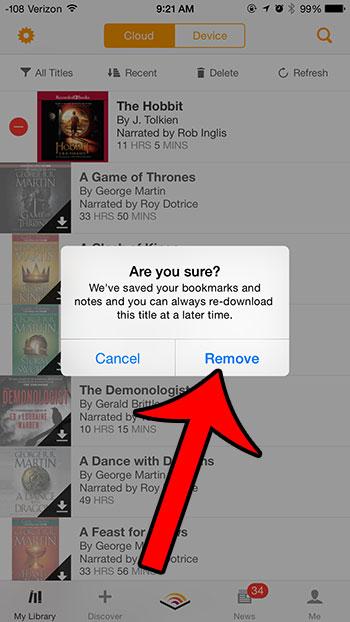 Как удалить звуковые книги с iPhone