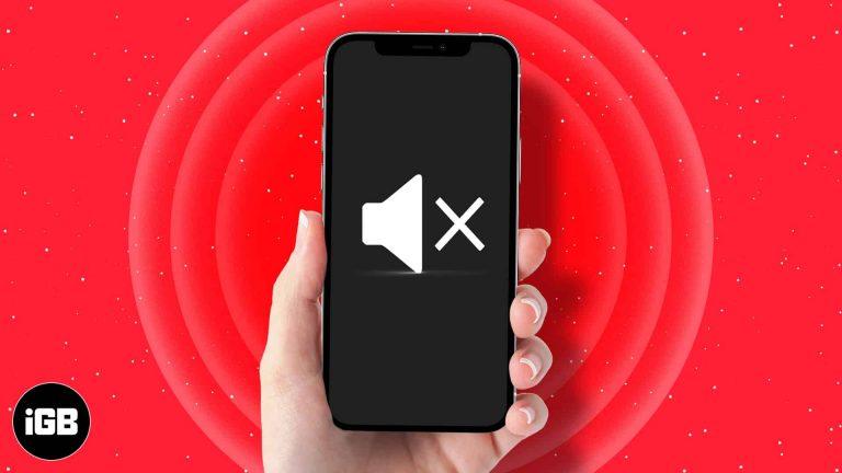 Нет звука на iPhone?  12 быстрых исправлений, которые стоит попробовать прямо сейчас!