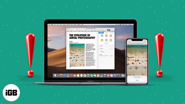 Универсальный буфер обмена не работает между Mac и iPhone?  8 быстрых исправлений