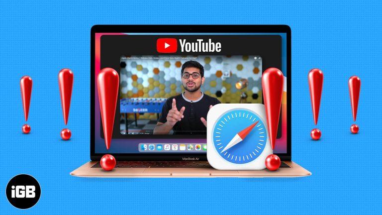 14 способов исправить видео с YouTube, которые не воспроизводятся в Safari Mac