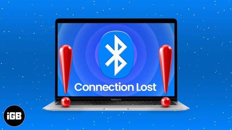 Устройства Bluetooth отключаются на Mac?  Вот как это исправить