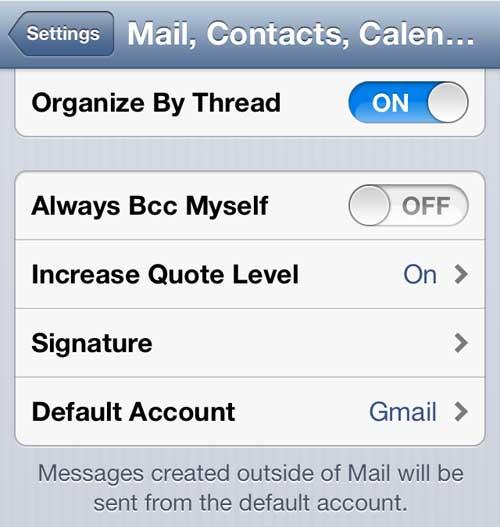 Как установить учетную запись электронной почты по умолчанию на вашем iPhone 5