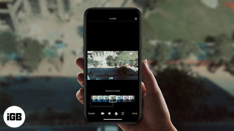 Как добавить фильтры к видео на iPhone или iPad в iOS 15/14