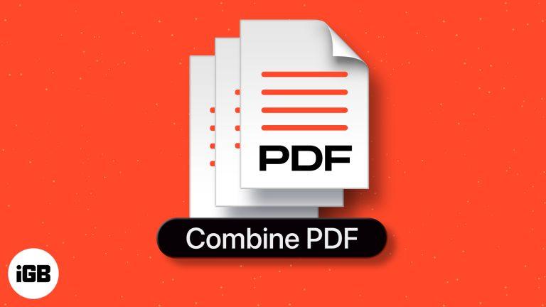 Как объединить PDF-файлы на Mac: 3 простых способа