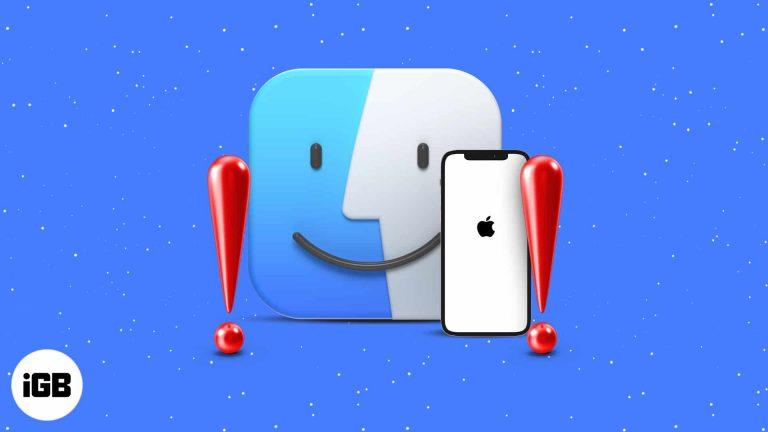 iPhone не отображается в Finder на Mac?  7 быстрых исправлений