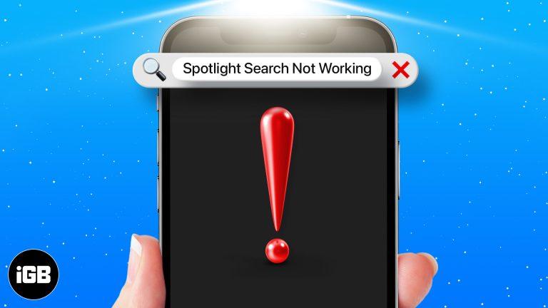 Поиск Spotlight не работает на iPhone?  6 быстрых исправлений