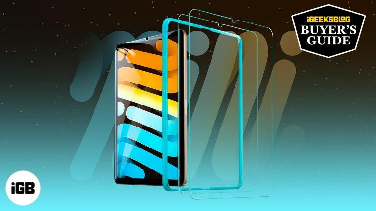 Лучшие защитные пленки для iPad mini 6 в 2021 году