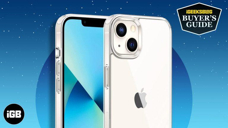 Лучшие прозрачные чехлы для iPhone 13 mini в 2021 году