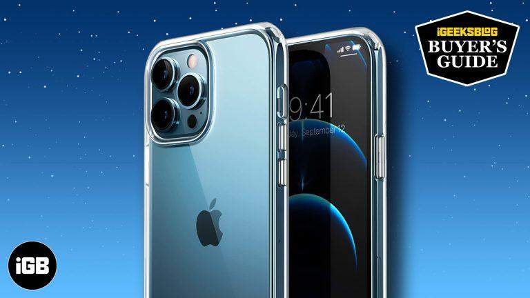 Лучшие прозрачные чехлы для iPhone 13 Pro Max в 2021 году