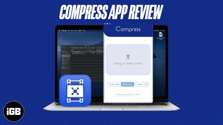 Обзор приложения Compress Video Compressor: уменьшите размер файла любого видео на Mac
