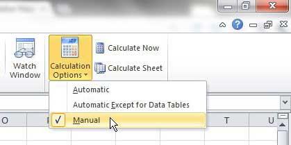 Как отключить формулы в Excel 2010