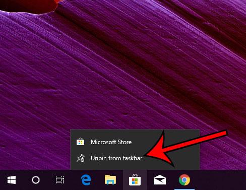 Как удалить Магазин Windows с панели задач в Windows 10