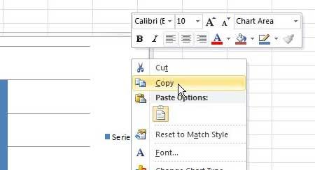 Как сохранить диаграмму Excel как изображение в Excel 2010
