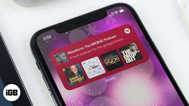 Как добавить виджет Spotify на iPhone