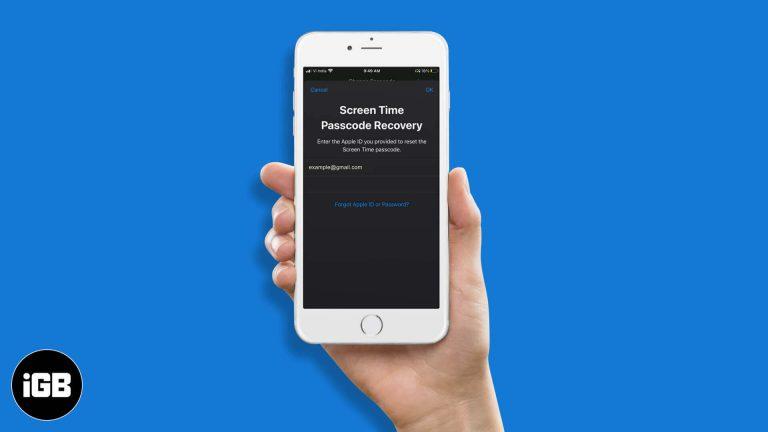 Как сбросить пароль экранного времени на iPhone в iOS 15