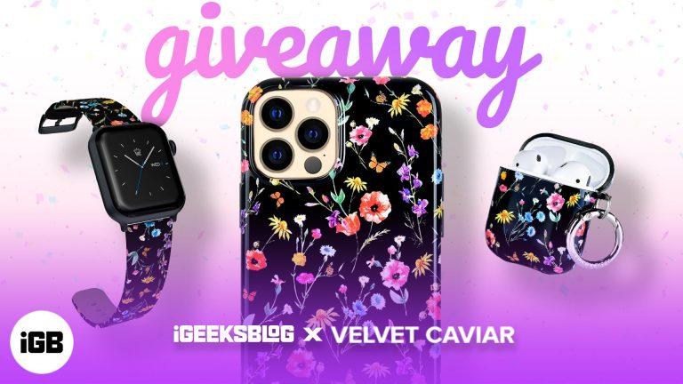 iGeeksBlog + раздача Velvet Caviar: выиграйте Apple Watch Series 7 и другие!